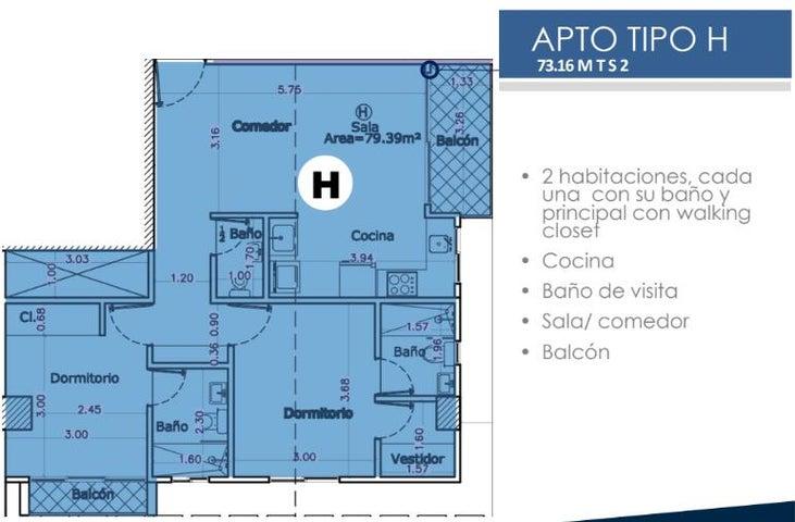 Apartamento Santo Domingo>Santo domingo Este>Alma Rosa I - Venta:103.090 Dolares - codigo: 21-2888