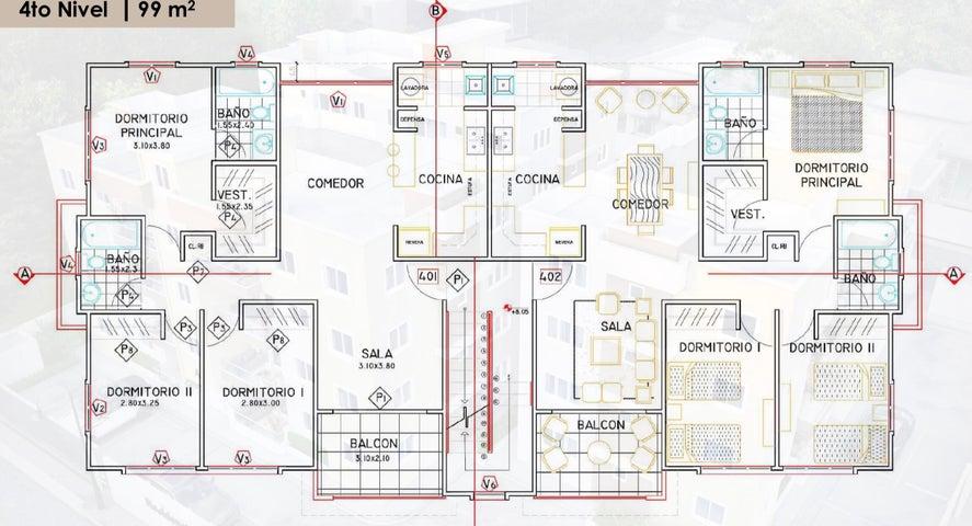 Apartamento Santo Domingo>Santo domingo Este>Los Trinitarios - Venta:67.500 Dolares - codigo: 21-2929