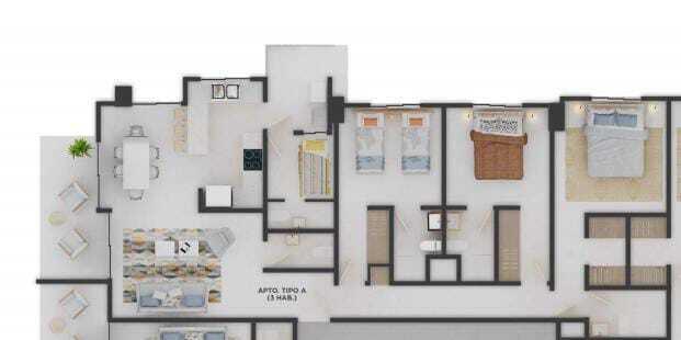 Apartamento Santo Domingo>Distrito Nacional>Bella Vista - Venta:155.000 Dolares - codigo: 21-3098