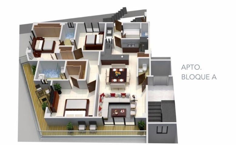 Apartamento Santo Domingo>Distrito Nacional>Renacimiento - Venta:235.000 Dolares - codigo: 21-3119