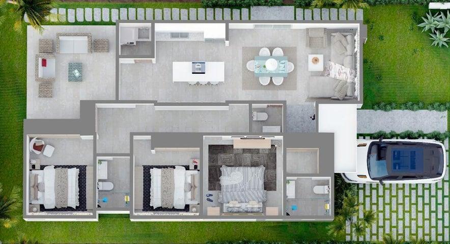 Casa La Altagracia>Punta Cana>Punta Cana - Venta:141.273 Dolares - codigo: 21-3201