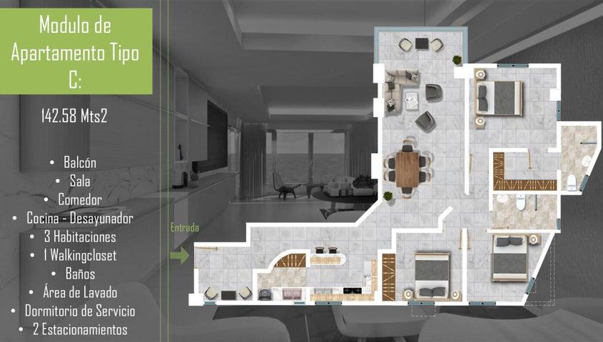 Apartamento Santo Domingo>Santo Domingo Oeste>Mirador Oeste - Venta:108.500 Dolares - codigo: 21-3214