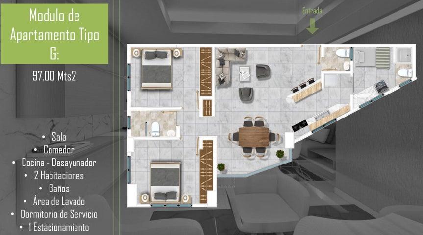 Apartamento Santo Domingo>Santo Domingo Oeste>Zona Industrial de Herrera - Venta:120.800 Dolares - codigo: 21-3216