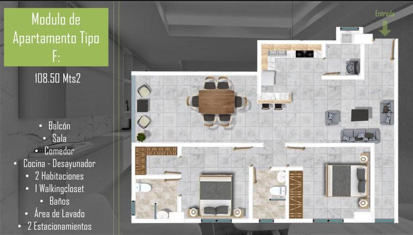 Apartamento Santo Domingo>Santo Domingo Oeste>Mirador Oeste - Venta:113.700 Dolares - codigo: 21-3217