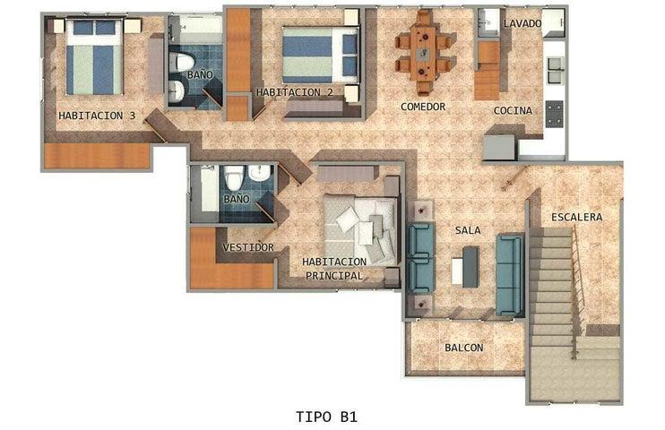 Apartamento Santo Domingo>Santo domingo Este>Tropical del Este - Venta:4.350.000 Pesos - codigo: 21-3268