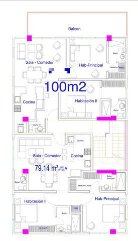 Apartamento Santo Domingo>Distrito Nacional>El Cacique - Venta:116.000 Dolares - codigo: 22-216
