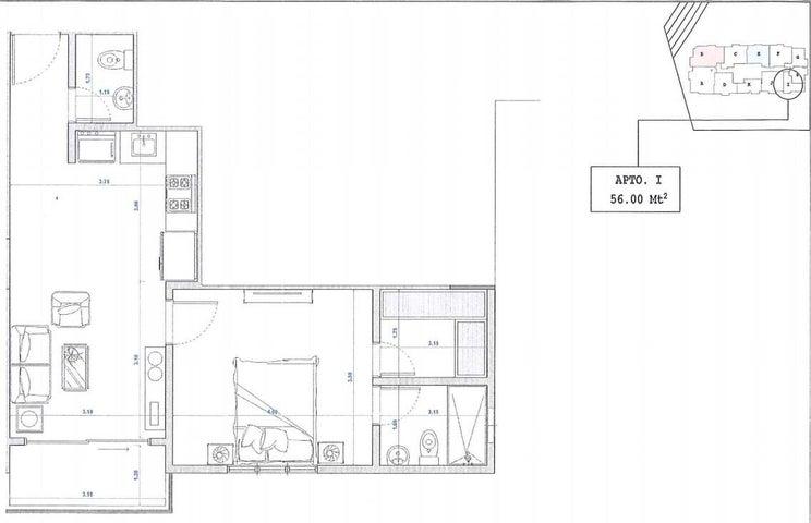 Apartamento Santo Domingo>Distrito Nacional>Bella Vista - Venta:123.000 Dolares - codigo: 22-224