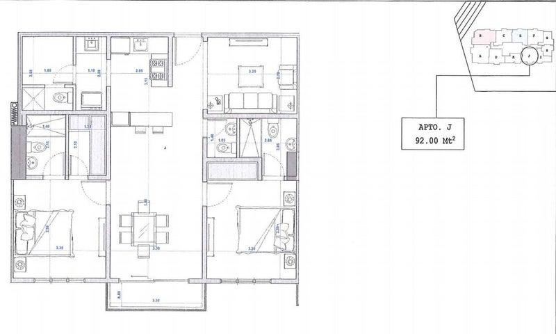 Apartamento Santo Domingo>Distrito Nacional>Bella Vista - Venta:164.000 Dolares - codigo: 22-225