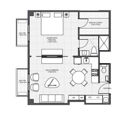 Apartamento Santo Domingo>Distrito Nacional>Arroyo Hondo - Venta:105.050 Dolares - codigo: 22-235
