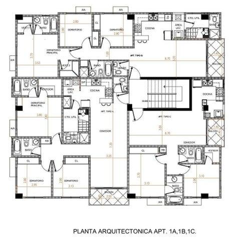 Apartamento Santo Domingo>Distrito Nacional>El Cacique - Venta:132.500 Dolares - codigo: 22-291