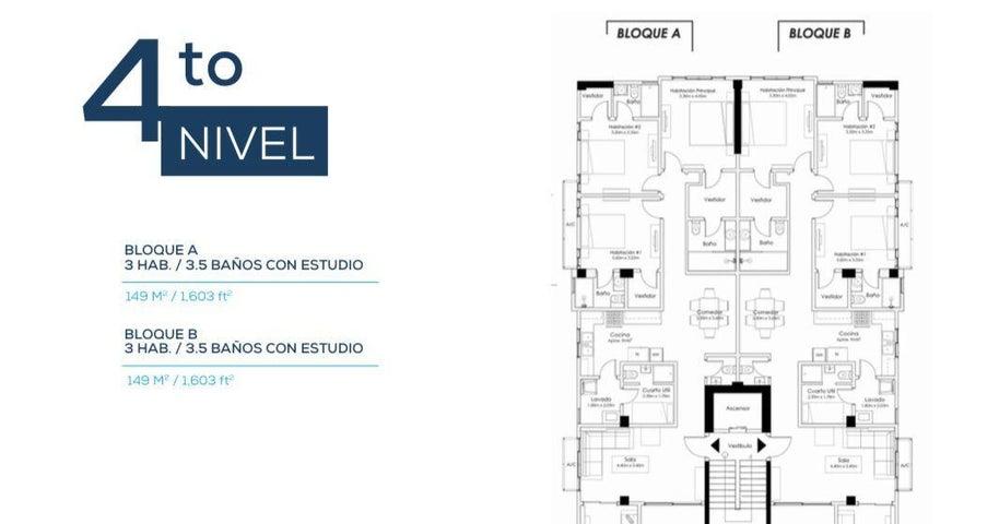 Apartamento Santo Domingo>Distrito Nacional>Urbanizacion Real - Venta:211.200 Dolares - codigo: 22-300