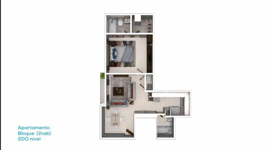 Apartamento Santo Domingo>Distrito Nacional>Naco - Venta:249.800 Dolares - codigo: 22-323