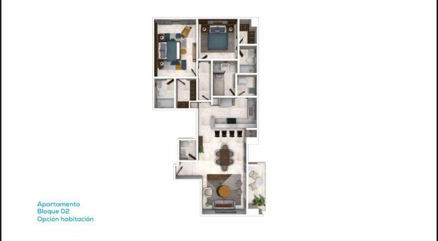 Apartamento Santo Domingo>Distrito Nacional>Naco - Venta:355.000 Dolares - codigo: 22-325