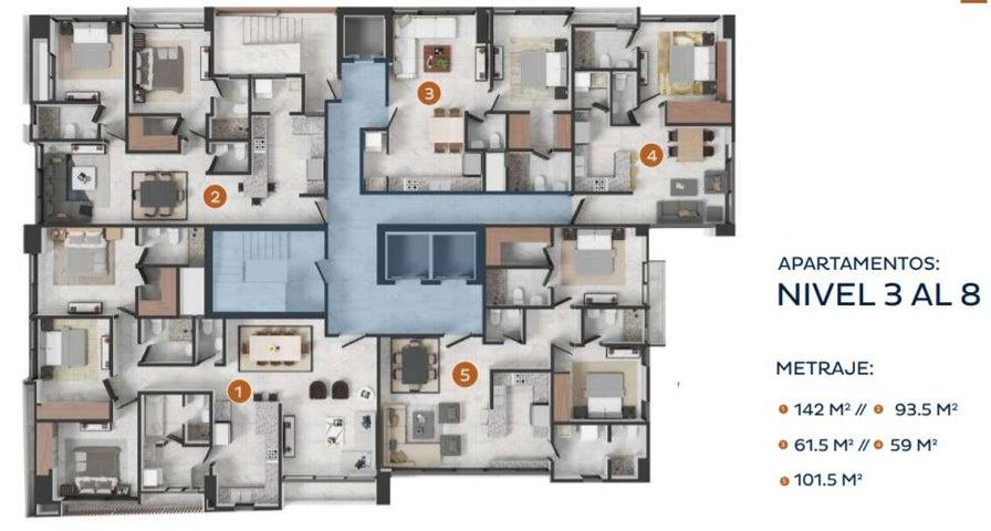 Apartamento Santo Domingo>Distrito Nacional>La Esperilla - Venta:224.000 Dolares - codigo: 22-384