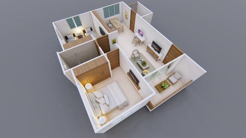 Apartamento Santiago de los Caballeros>Santiago>Santiago de los Caballeros - Venta:48.500 Dolares - codigo: 22-563
