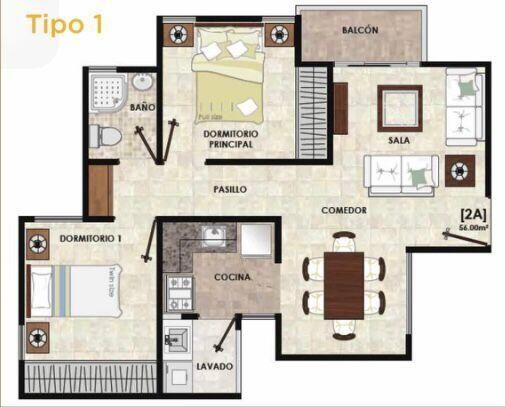 Apartamento Santo Domingo>Santo Domingo Oeste>Av Prolongacion 27 de Febrero - Venta:2.060.030 Pesos - codigo: 22-492