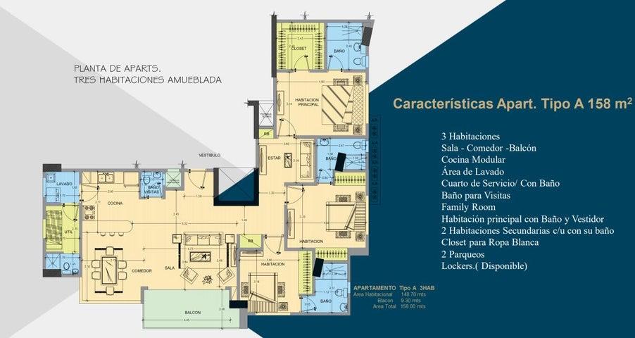 Apartamento Santo Domingo>Distrito Nacional>Evaristo Morales - Venta:310.000 Dolares - codigo: 22-600