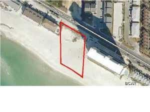 Excellent opportunity for a vacant commercial parcel totaling 1.027 acres with 197 feet of Gulf frontage! This property can be divided into four different parcels and recorded individually. Plans and DEP permits approved for 4 homes on this parcel. Homes are designed by renowned  Joe Doegherty and each home will offer 49 feet of Gulf frontage. High visibility on the ideal west end of Panama City Beach located just 1.3 miles west of Highway 79, which accesses the Northwest Florida Beaches International Airport! This vacant parcel is also located just over 1 mile west of Pier Park which offers one million sq. ft. of shopping and entertainment across from the beach, pier and boardwalk. Desirable location offering additional privacy compared to the more congested areas of Panama City Beach. Parcel is in T-2 District: zoned for apartments, hotels, motels, condominiums, churches, clubs, lounges, lodges, parking lots, business uses, professional uses, including retail sales and single-family dwellings. Location is key for this great value! Panama City Beach is one of the most dynamic future economies in the state of Florida. Do not miss out on this incredible income producing development opportunity.
