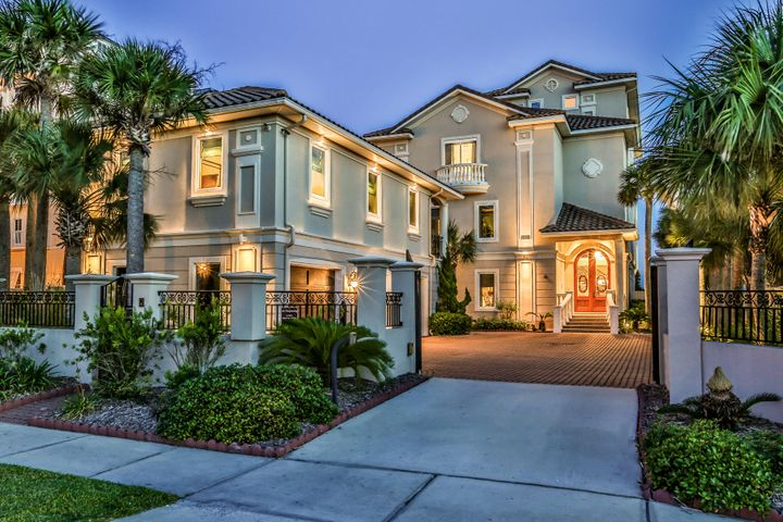 Unique gulf front estate with private gated entrance.