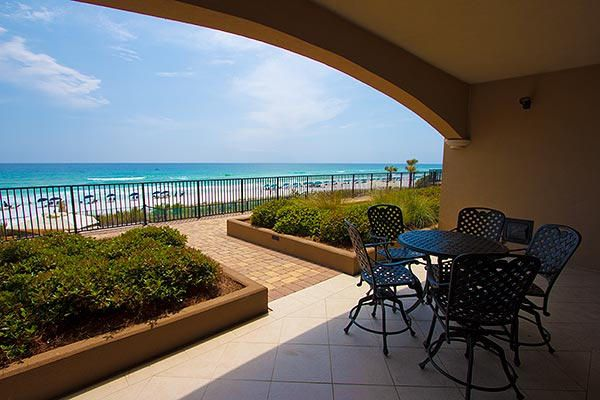 Easy access to the pool & beach. First floor walkout.