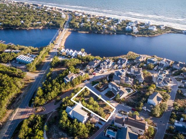 Aerial view, Camp Creek Lake and Gulf views