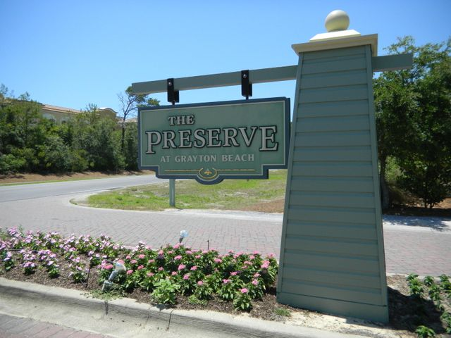 The Preserve at Grayton Beach features two entrance gates.