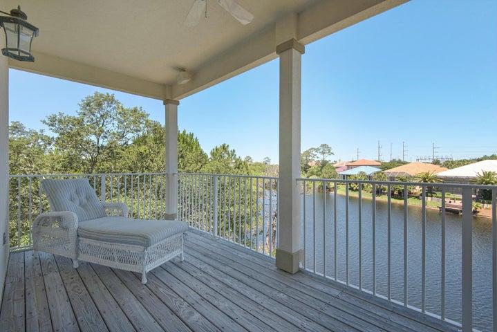 Spacious balconies invite peaceful views of the lake.