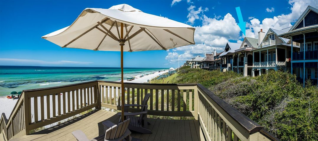 Sun deck at Rosemary Beach walkover