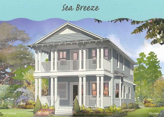 Sea Breeze floor plan- 4 BR/3.5BA plus loft! This floor plan offers optional 2 car garage, 1 car garage, carport or golf cart barn.  Kitchens include built in GE Cafe Appliances with refrigerator. Wood floors throughout, Outdoor showers, impact resistant windows/ doors, and 2 x 6 exterior framing are just a few of the things that are done differently than other area builders. NatureWalk at Seagrove has become the premier place to be near Seaside with the amenity-rich Gathering Place- complete with heated lap pool,hot tub, zero entry pool, fire pit, grills, and much more! Additional amenities include trails throughout, Energi fitness stations, multi-purpose court, pickelball court, and green space. There is a trail through the forest to get to the beach! NatureWalk has a seasonal beach