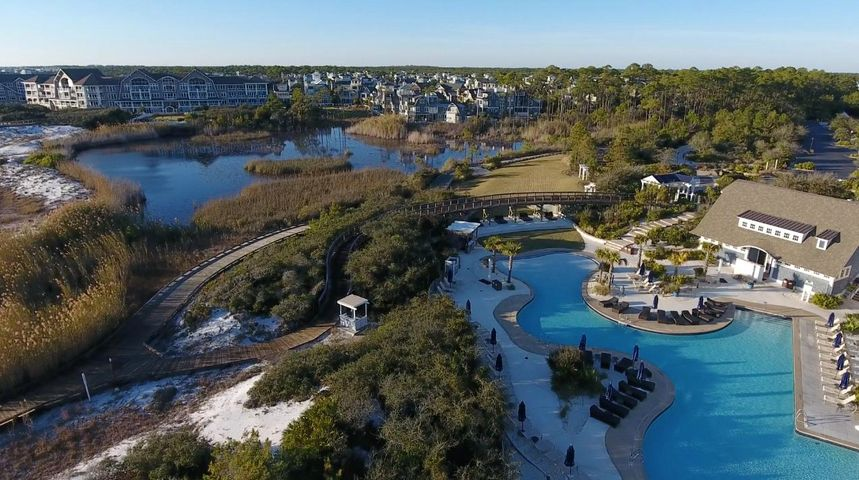 WaterSound Beach Club with Compass Point Condos in background