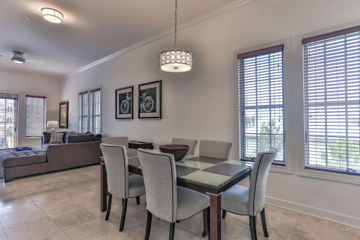 Dining and Living with natural lighting only afforded in a few great corner units.