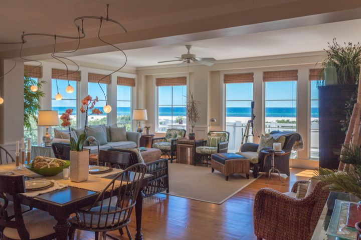 Living and dining room views