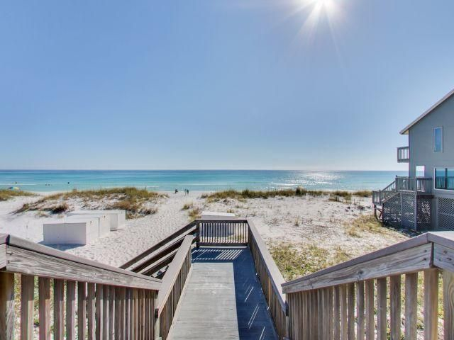 Fantastic bargain beach condo deal - 1br/1ba w/bunks with DEEDED beach access agreement. Gulfview II #227 is 2nd floor furnished and super convenient to the large pool/hottub, stairwell, laundry and more. Enjoy the comfort of a comfortable beach getaway with this great location on Old 98/Scenic Gulf Dr. offering 2 pools (1 heated) hottub, grill area, and beach access. Walking distance to Kenny D's restaurant, Capt. Daves and just a few minute drive to the Commons Mall and Silver Sands mall, area dining and activities. What a gem of a deal!  Owner rents vrbo and grosses between $15-22K w/owner usage. Hall bunks allow unit to sleep 4. Property looks good and just went under residing renovation and $6K special assessment paid by seller. Easy show. Be sure to see Virtual tour
