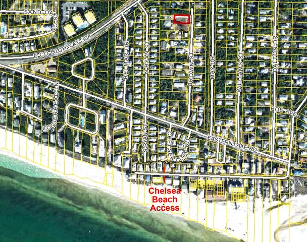 Lot 71 is a short walk to the Chelsea Loop Beach Access