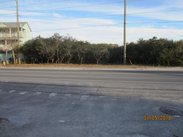 View looking North across 30A to the front of property