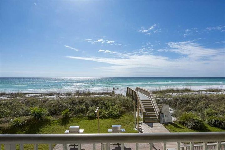 Gorgeous beach front view from your balcony!