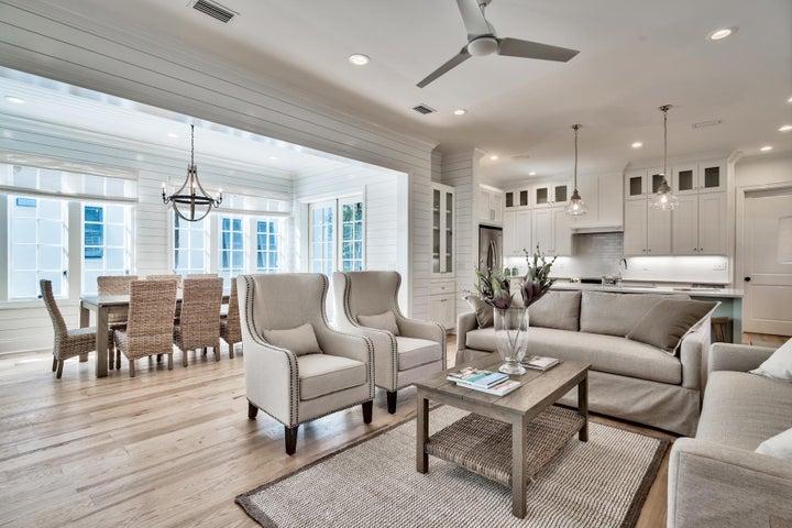 1st Floor Open Living Kitchen Dining Area