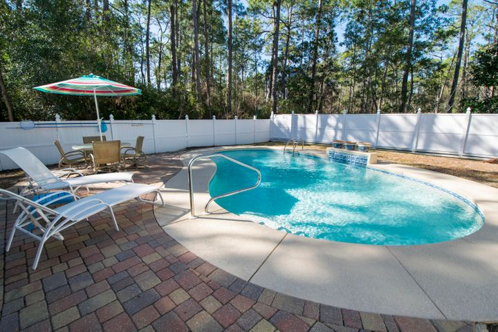 Generous 50' x 135' lot with private pool