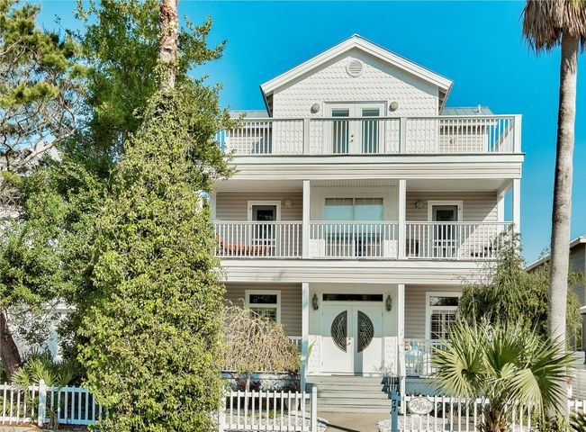 This is your opportunity to own in the highly sought after Crystal Beach area! This beautiful 3 story, 3 bedroom, 2.5 bath home is just a short 1 block walk from the beach. The open floorplan and free flowing space create the perfect place to enjoy the Destin beach lifestyle! Fine details are featured throughout the home, such as hardwood floors, quartz and carrera marble counters, crown molding, elegant lighting fixtures and custom showers. The 1st, 2nd and 3rd story balcony decks are large and invite you to spend your time enjoying the fresh Florida sea air. The large backyard has plenty of room to add a pool and additional outdoor entertainment space. The entire house is open and bright, and waiting to welcome you home! This could be your new full time residence or investment property in this prime location. You really must see this home to appreciate all it has to offer. Located in the central location of Crystal Beach, you are just minutes away from Destin Commons, Silver Sands Outlet, Grand Boulevard and more!! Do not let this opportunity to own an incredible beach home slip away!