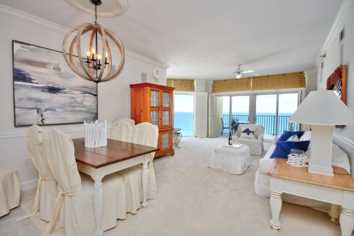 Dining and living area open to the Incredible Gulf Views