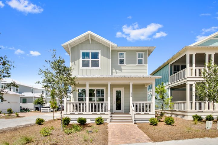 This is the LOWEST priced new construction home on the East side of 30A -- in almost sold out NatureWalk community.  Come be near all the fun in Seaside & Watercolor but own for a fraction of the price! .  This won't last long!  Lily Lane beach trail allows you to bike to the beach in 5 minutes. This 3 bedroom, 2 1/2 bath home includes a 2 car garage and 2 covered porches AND is offered furnished. Everything is light, bright and beachy.  Upgrades throughout including wood floors, ship lap, gorgeous white beams, Carrera countertops, shaker cabinets and more! Outdoor shower and gas line run to back porch. Corner homesite with room for a small fence for your furry friends. Resort style amenities are just around the corner- The Gathering Place is at the heart of the community with beach entry pool, hot tub, heated lap pool, kiddie pool, grills, firepits, and tot lot. Also included is convenient seasonal beach shuttle, fitness stations and trails throughout community, and seasonal security.  Come see why over 250 homes have been sold here before it's all gone!