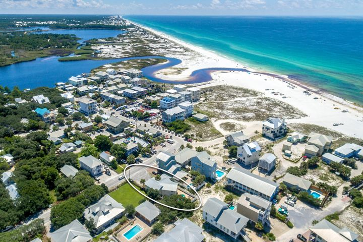Awesome location in Grayton Beach!  This 9 bedroom, 8 bath house, with a separate apartment, is close to the beach and the restaurants and shops in Grayton. Come in from the beach and take a dip in the private pool, then walk across the street to Chiringos for dinner. This home is perfect for a large family gathering or rental property. All measurement and information is believed to be accurate but should be verified.