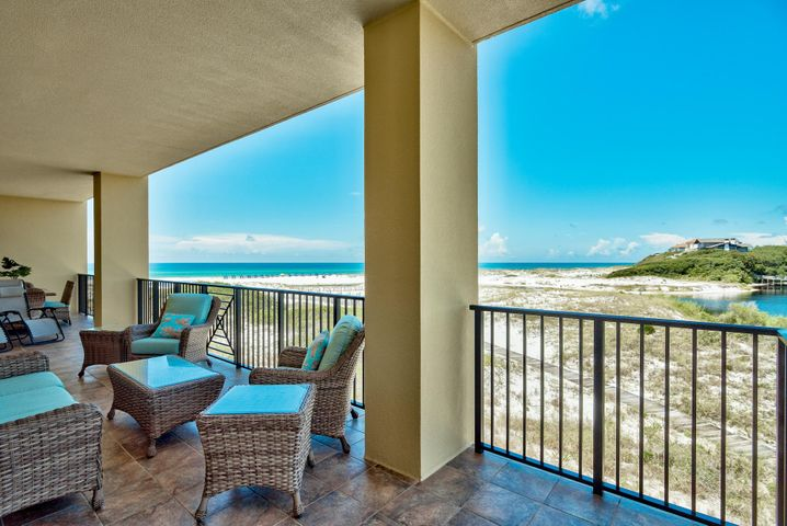 Wonderful views of the Gulf and Coastal Dune Lakes from the Balcony of unit 1125 Sanctuary by the Sea
