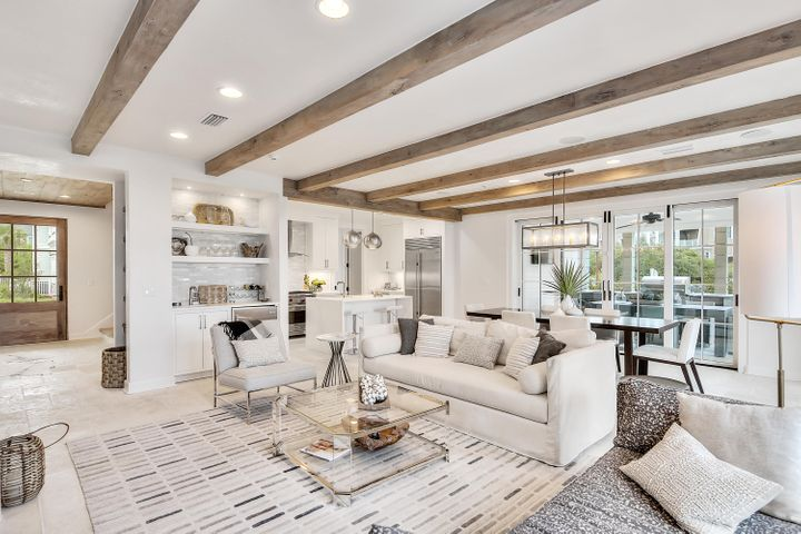 Living Room - natural light throughout the floor to ceiling windows!