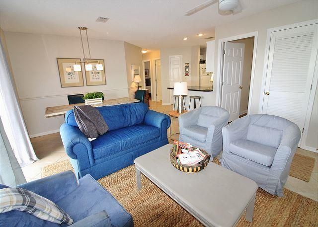 Located in Seagrove Beach, Beachside Villas is one of the many hidden gems south of 30A on the beaches of South Walton. This recently updated condo is located near one of the 2 pools in the complex and just steps away from the sugary, white sands of the beach! The complex also boasts tennis and shuffle board courts and a clubhouse that is able to be reserved for group functions.