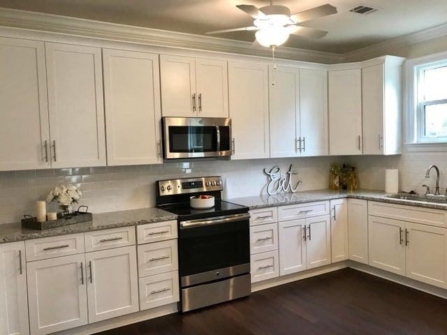 Custom, bright white custom cabinets