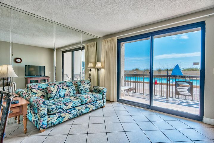 Conveniently located Gulf front 1-bedroom unit at SunDestin. Being ground floor with easy access to the pool and beach, this is a prime rental investment.