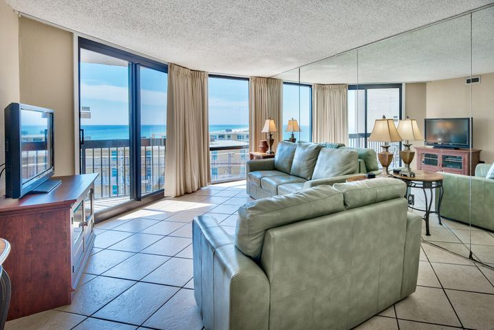 Fully furnished and ready to rent! This Gulf view condo with Gulf front master has excellent rental history, and is a great investment. SunDestin is known for its unique amenities, making this a hot vacation destination!