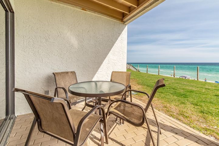 Covered porch with Panoramic Gulf views.