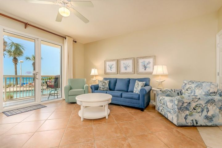 **GROUND FLOOR - CALYPSO TOWERS**  Great opportunity to own one of the most convenient condos possible in all of Panama City Beach. Enjoy the ease of dropping your things off at the door step, quick walks out to the pool & beach and a 3 minute walk to Pier Park from the door to the condo. This one bedroom with hall bunks appeals to the masses from a vacation rental standpoint and has the rental history to show.  The fully stocked kitchen allows plenty of room for the chef and offers wonderful views as well. This property in Tower 1 of Calypso is a rare offering and boasts possibly the best location in the entire area. Calypso Tower 1 - Unit 103 in Panama City Beach, Florida is one to add to your list of ''Must See'' condos if you are considering a purchase in this area.